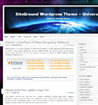 Universe | SiteGround WordPress 1.0 Templates