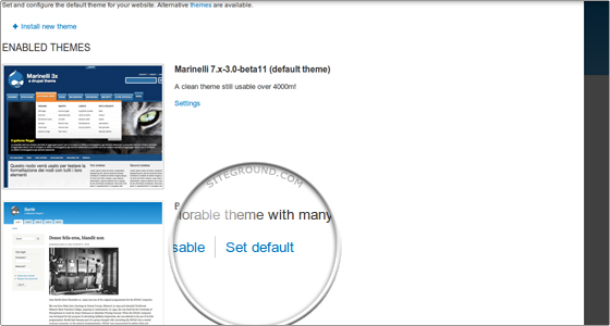 enable theme