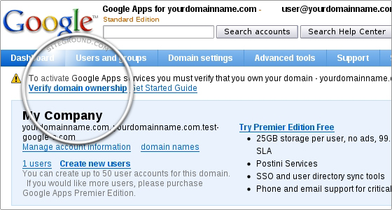 google sites how to connect domain